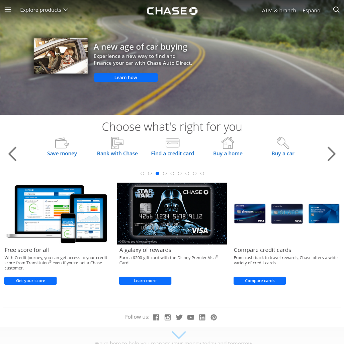 Screenshot archive of www chase com | Thumlapse by Thum io