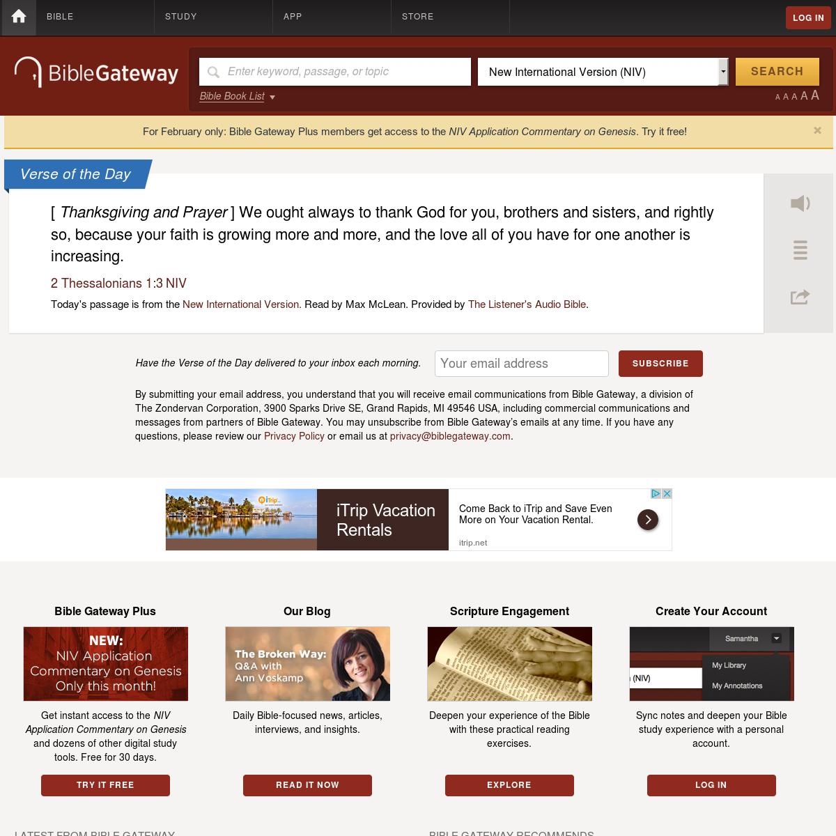 Screenshot archive of www biblegateway com   Thumlapse by